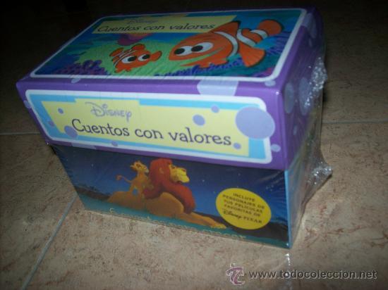 DISNEY - CAJAS CON 6 CUENTOS CON VALORES - PRECINTADO - CEENICIENTA, REY LEON, SIRENITA, ... (Libros Antiguos, Raros y Curiosos - Literatura Infantil y Juvenil - Cuentos)