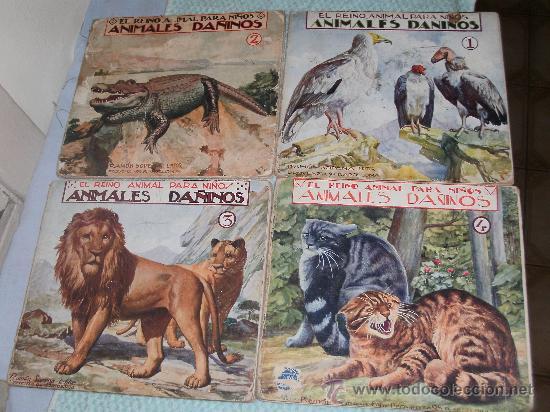 EL REINO ANIMAL PARA NIÑOS - ANIMALES DAÑINOS (Libros Antiguos, Raros y Curiosos - Literatura Infantil y Juvenil - Cuentos)