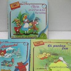 Libros antiguos: LOTE DE 3 CUENTOS DISNEY - LOS CLASICOS DISNEY . Lote 27644923