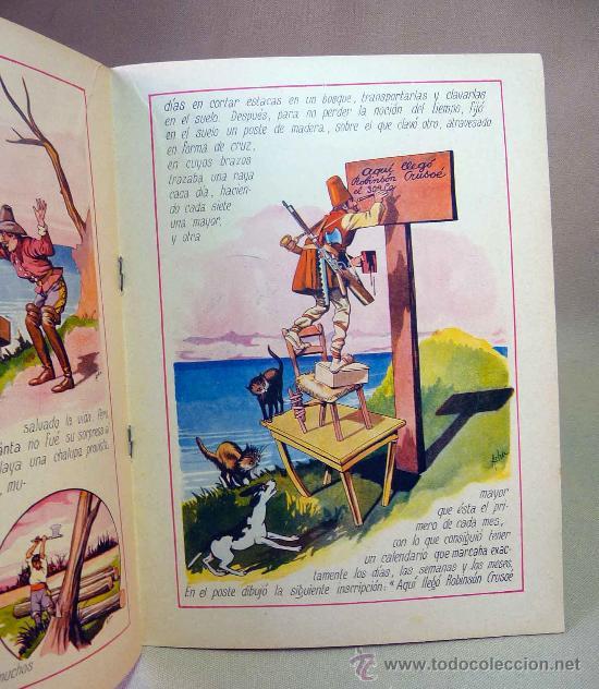 Libros antiguos: CUENTO, ROBINSON CRUSOE, RAMON SOPENA,. DIBUJOS DE ASHA - Foto 2 - 27944226