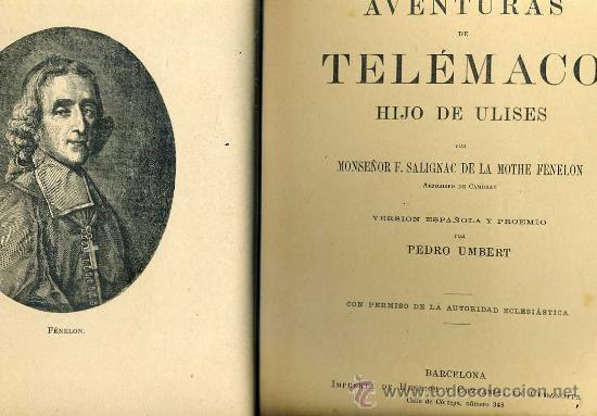 Libros antiguos: FENELON : AVENTURAS DE TELÉMACO, HIJO DE ULISES (1909) FORMATO 21X31 - Foto 2 - 58605373