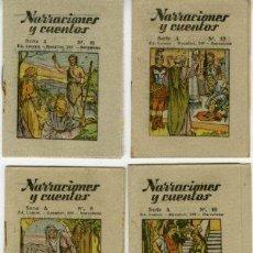 Livros antigos: NARRACIONES Y CUENTOS.- SERIE A COMPLETA, NÚM 1 AL 12 (DIFERENTES), TAMAÑO 10,3 X 7,5 CM.. Lote 267504844