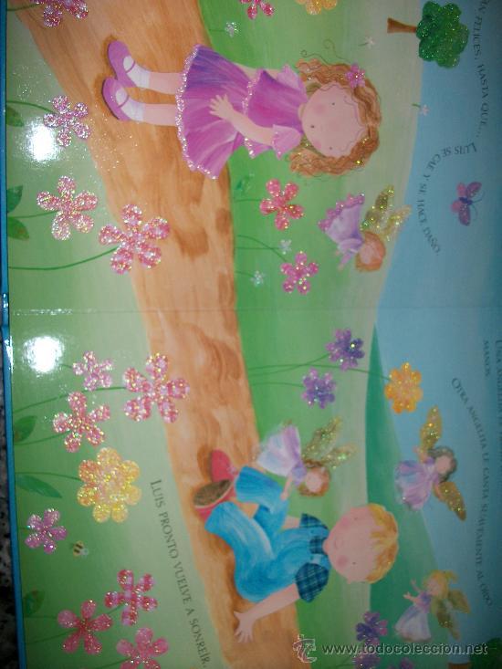 Libros antiguos: LIBRO CUENTO ANGELES - 9 PAGINAS- TAPA DURA -CON PURPURINA - TODO COLOR - INFANTIL -TODOLIBRO- NUEVO - Foto 2 - 29725698