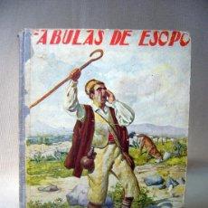 Libros antiguos: LIBRO, FABULAS DE ESOPO, R.SOPENA, 1933, BIBLIOTECA PARA NIÑOS. Lote 30714207
