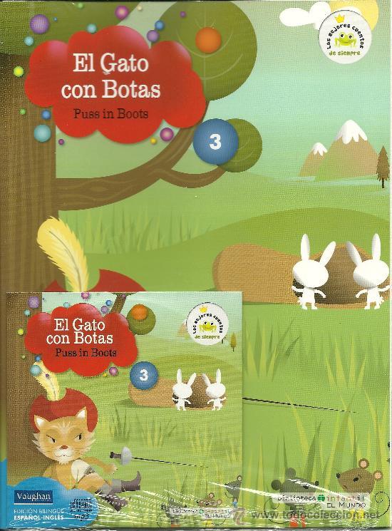 CUENTO CLÁSICO -BILINGÜE- EL GATO CON BOTAS+ CD. (Libros Antiguos, Raros y Curiosos - Literatura Infantil y Juvenil - Cuentos)