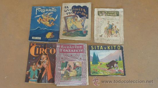 LOTE DE 6 CUENTOS ANTIGUOS. CALLEJA, SOPENA... TAMAÑO GRANDE. (Libros Antiguos, Raros y Curiosos - Literatura Infantil y Juvenil - Cuentos)