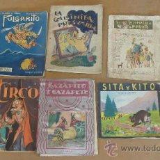 Libros antiguos: LOTE DE 6 CUENTOS ANTIGUOS. CALLEJA, SOPENA... TAMAÑO GRANDE.. Lote 31100130
