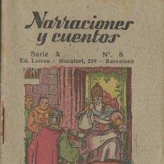 Libros antiguos: ANTIGUO CUENTO DE NARRACIONES Y CUENTOS. SERIE A Nº 8. ED.LUMEN VIDA DE SAN ISIDORO ARZOBISPO . Lote 31146963