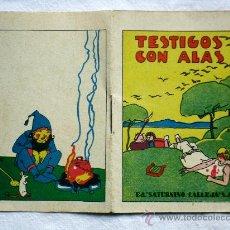 Libros antiguos: TESTIGOS CON ALAS - ED.SATURNINO CALLEJA - RECREO INFANTIL SERIE I TOMO 20. Lote 31324983