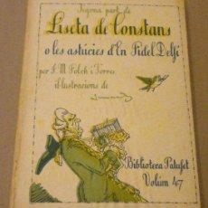 Libros antiguos: FOLCH I TORRES / LISETA DE CONSTANS O LES ASTUCIES D'EN FIDEL DELFI / JUNCEDA (1924). Lote 31641671