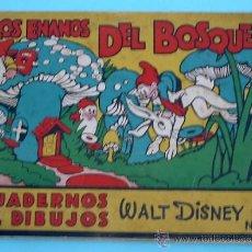 Libros antiguos: LOS ENANOS DEL BOSQUE. CUADERNOS DE DIBUJOS. WALT DISNEY. EDITORIAL MOLINO. Nº 2. DÉCADA DE 1930.. Lote 32621653
