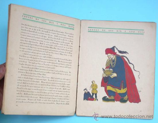 Libros antiguos: CONTES DE LES MIL I UNA NITS. LA LLÀNTIA MERAVELLOSA DALADDÍ. IL. LOLA ANGLADA. H. ABADAL EDT, 1926 - Foto 4 - 32780683