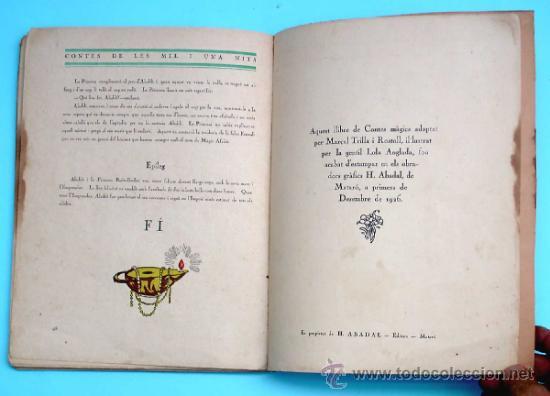 Libros antiguos: CONTES DE LES MIL I UNA NITS. LA LLÀNTIA MERAVELLOSA DALADDÍ. IL. LOLA ANGLADA. H. ABADAL EDT, 1926 - Foto 5 - 32780683