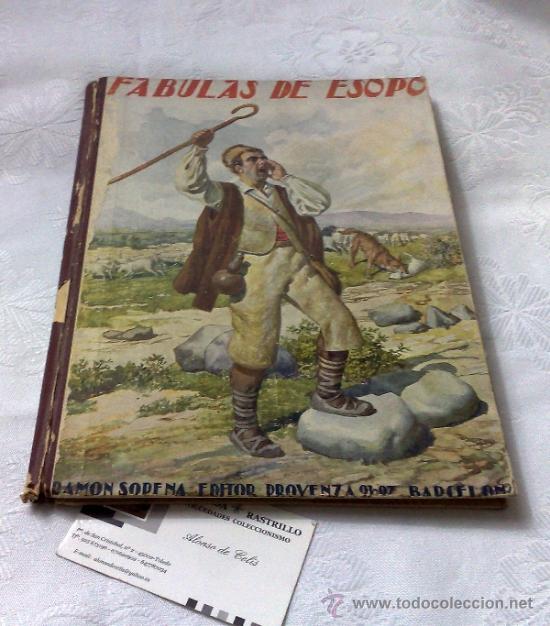 AÑO 1943- RAMON SOPENA.- BIBLIOTECA PARA NIÑOS.-FÁBULAS DE ESOPO. (Libros Antiguos, Raros y Curiosos - Literatura Infantil y Juvenil - Cuentos)