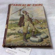 Libros antiguos: AÑO 1943- RAMON SOPENA.- BIBLIOTECA PARA NIÑOS.-FÁBULAS DE ESOPO.. Lote 33214138