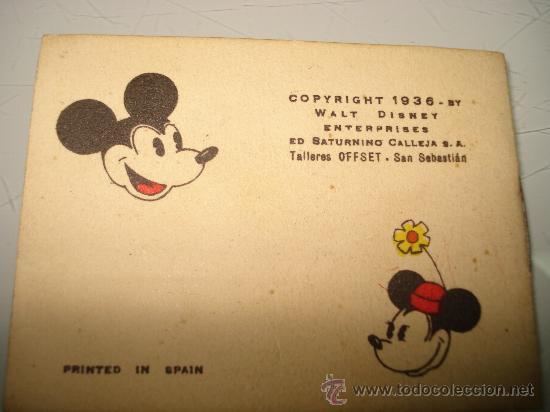Libros antiguos: Juguetes Instructivos MICKEY ** UNA FUGA INGENIOSA ** Ed. Saturnino Calleja Ilustrado Año 1936 - Foto 3 - 33568789