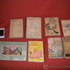 Libros antiguos: LOTE DE 8 CUENTOS ANTIGUOS. Lote 33710451