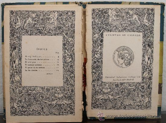 Libros antiguos: EL VIEJO HECHICERO Y OTROS CUENTOS MORALES CON CENSURA ECLESIASTICA - EDITORIAL SATURNINO CALLEJA - Foto 3 - 33996627