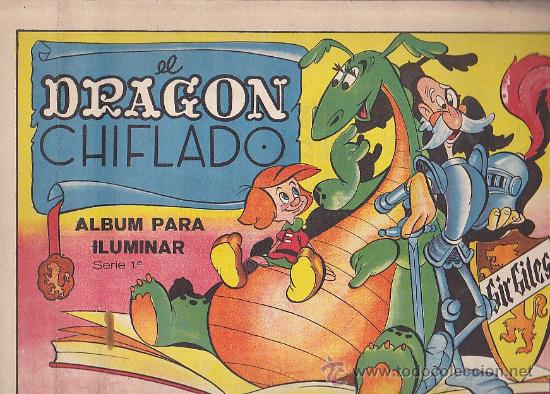 CUADERNO DE PINTURA EL DRAGON CHIFLADO EDITORIAL VILCAR (Libros Antiguos, Raros y Curiosos - Literatura Infantil y Juvenil - Cuentos)