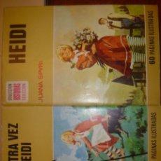 Libros antiguos: HEIDI Y OTRA VEZ HEIDI. LOTE DE DOS. EDITORIAL BRUGUERA. Lote 35228120