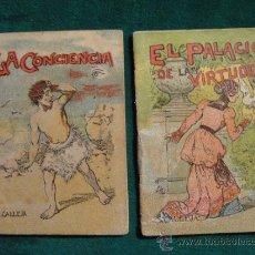 Libros antiguos: DOS CUENTOS DE S. CALLEJA, MIDEN 7 X 5 CM.. Lote 35449428