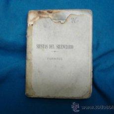 Libros antiguos: -SIESTAS DEL SILENCIARIO - CUENTOS - RAFAEL PAMPLONA ESCUDERO - EDIT. ATHENEUM, ENERO DE 1922. Lote 37243288