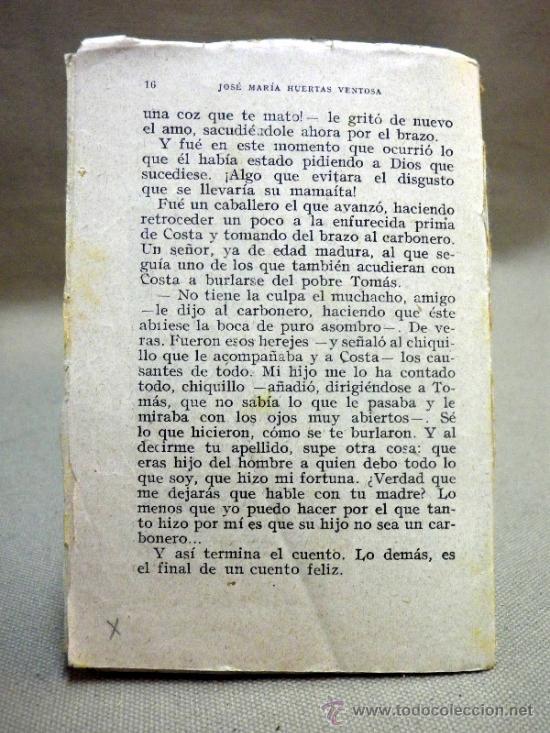 Libros antiguos: LIBRO O LIBRILLO INFANTIL. EL CHICO DEL CARBONERO. CUENTOS INEDITOS - Foto 2 - 38031390