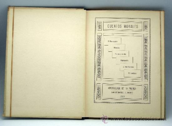 Libros antiguos: Si Dios quiere y otros Cuentos morales Ed Apostolado de la Prensa 1923 - Foto 2 - 37780209
