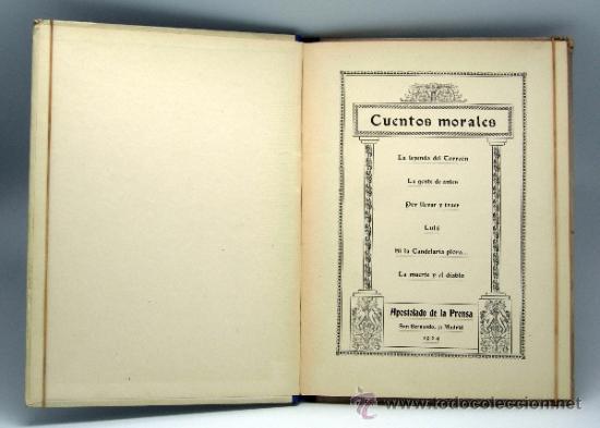 Libros antiguos: La Leyenda del Torreón y otros Cuentos morales Ed Apostolado de la Prensa 1923 - Foto 2 - 37780340
