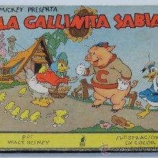 Libros antiguos: CUENTO MICKEY PRESENTA - LA GALLINITA SABIA POR WALT DISNEY PRIMERA EDICION JUNIO 1935, EDITORIAL MO. Lote 37933412