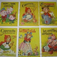 Libros antiguos: LOTE DE SEIS CUENTOS INFANTILES.....EDITORIAL ROMA...BARCELONA.. Lote 38304306