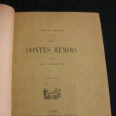 Libros antiguos: LES CONTES RÉMOLS. COMTE DE CHEVIGNÉ. PARIS.LIBRAIRIE DE L'ACADEMIE DES BIBLIOPHILES. 1868.. Lote 38711671