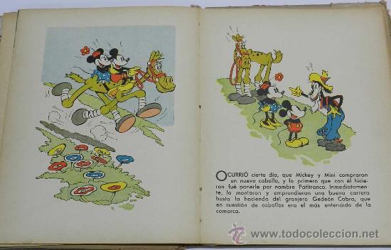 Libros antiguos: ANTIGUO CUENTO MICKEY EN LAS CARRERAS - LIBRO JUGUETE - CUENTO E ILUSTRACIONES POR WALT DISNEY - ED. - Foto 3 - 38870866