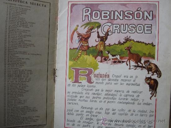 Libros antiguos: cuentos en colores - V III - robinson crusoe , ramon sopena - dibujos ASHA - Foto 2 - 38902895