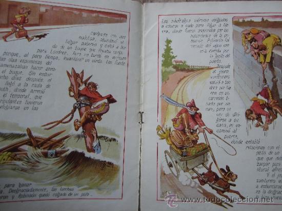 Libros antiguos: cuentos en colores - V III - robinson crusoe , ramon sopena - dibujos ASHA - Foto 3 - 38902895