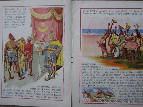 Libros antiguos: cuentos en colores - V III - robinson crusoe , ramon sopena - dibujos ASHA - Foto 4 - 38902895