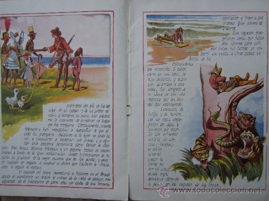 Libros antiguos: cuentos en colores - V III - robinson crusoe , ramon sopena - dibujos ASHA - Foto 5 - 38902895