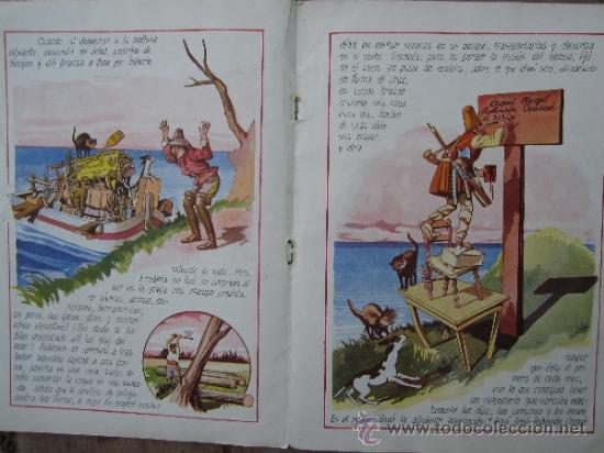 Libros antiguos: cuentos en colores - V III - robinson crusoe , ramon sopena - dibujos ASHA - Foto 6 - 38902895