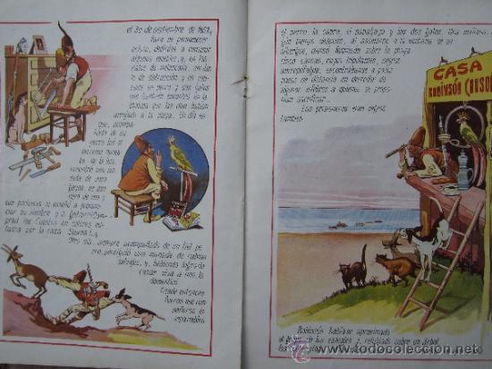 Libros antiguos: cuentos en colores - V III - robinson crusoe , ramon sopena - dibujos ASHA - Foto 7 - 38902895