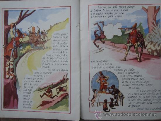 Libros antiguos: cuentos en colores - V III - robinson crusoe , ramon sopena - dibujos ASHA - Foto 8 - 38902895