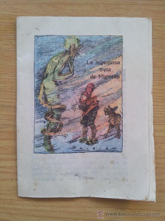 CUENTO MINIATURA LA INGENIOSA TRETA DE MIGUELIN MIDE 10,5 X 7,5 CM (Libros Antiguos, Raros y Curiosos - Literatura Infantil y Juvenil - Cuentos)