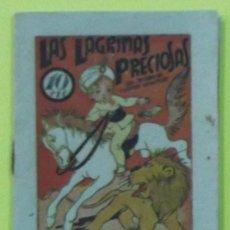 Libros antiguos: LAS LÁGRIMAS PRECIOSAS. TESORO DE CUENTOS INFANTILES. EL GATO NEGRO. 11X8 CM. 16 PÁGINAS. Lote 38951054