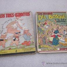 Libros antiguos: LOTE DE 2 LIBRO DE EDITORIAL EL MOLINO. LOS 3 CERDITOS Y ENANOS DEL BOSQUE.. Lote 39111581