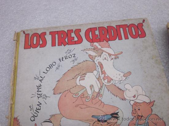 Libros antiguos: Lote de 2 libro de editorial el Molino. Los 3 cerditos y Enanos del bosque. - Foto 2 - 39111581