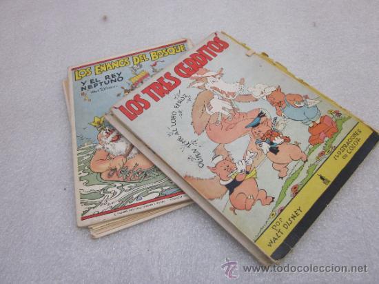 Libros antiguos: Lote de 2 libro de editorial el Molino. Los 3 cerditos y Enanos del bosque. - Foto 5 - 39111581