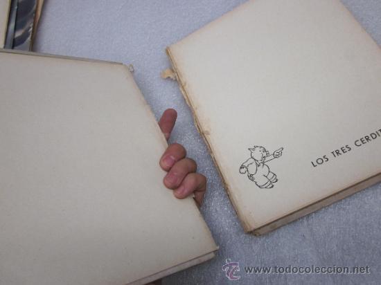 Libros antiguos: Lote de 2 libro de editorial el Molino. Los 3 cerditos y Enanos del bosque. - Foto 7 - 39111581