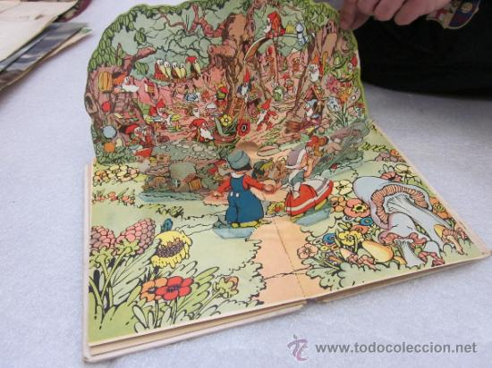 Libros antiguos: Lote de 2 libro de editorial el Molino. Los 3 cerditos y Enanos del bosque. - Foto 8 - 39111581