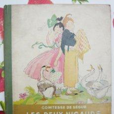 Libros antiguos: LES DEUX NIGAUDS / COMTESSE DE SÉGUR / HACHETTE 1931 / PRECIOSO- GRAN FORMATO/ ILUSTRADO. Lote 39791389