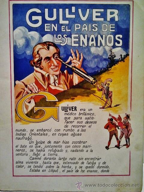 Libros antiguos: Gulliver en el país de los enanos. Cuentos de colores IX. Dibujos de Asha. Ramón Sopena, Barcelona. - Foto 2 - 40098904