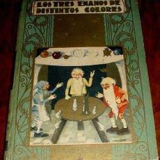 Libros antiguos: ANTIGUO CUENTO . LOS TRES ENANOS DE DISTINTOS COLORES - RDITORIAL SATURNINO CALLEJA - 1941 - TEXTO E. Lote 38241370